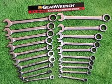 GearWrench SAE METRIC Ratcheting Combination Wrenches Standard MM 20pc,Set 35720