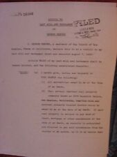 RARE  SUPERMAN GEORGE REEVES   FIRST CODICIL LAST WILL AND TESTAMENT