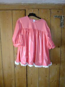 PVC-U-Like PVC Smock Dress Mini Tunic Plastic Babydoll ABDL L Pink Sissy BIG!