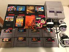 Super Nintendo 8 Game Lot w/manuals + SNES System
