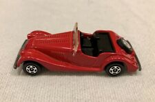 1977 Tomica Pocket Cars Morgan Plus 8 No. F28 Red Roadster