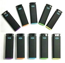 10 Ct Mk Jet Black Torch Big Full Size Lighters Refillable Windproof Lighter