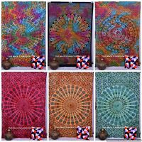 Indian Hippie Mandala Tie Dye Wall Hanging Tapestry Twin Throw Bedspread Ethnic