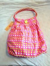 M&S Girls Pink Heart Print Double Hoop Handled Bag BNWT