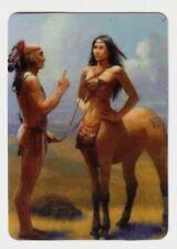 Mystical Centaur and Indian Man - Modern Wide Linen Swap Playing Card