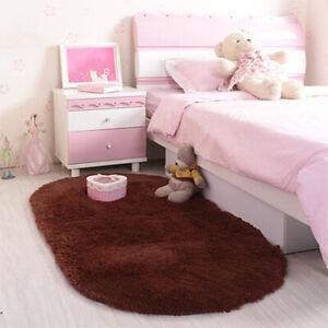 Fluffy Rugs Anti-Skid Shaggy Area Rug Carpet Bedroom Floor Mat Home Decor