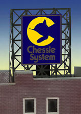MILLER ENGINEERING CHESSIE SYSTEM NEON SIGN KIT N/Z SCALE train railroad 33-9070