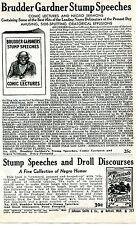 1940 Print Ad of Brudder Gardner Stump Speeches Negro Sermons Black Americana