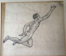 Original Signed Hannibal De Bellis Pencil Sketch For St. Vincent's Hospital