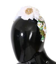 NEW $1900 DOLCE & GABBANA Diadem Headband Yellow White Daisy Crystal Floral