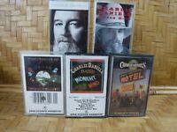 Cassette Tape Lot CHARLIE DANIELS BAND Fire Midnight Heros Same Super Hits x5