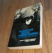 1971 Search For Human Understanding A Reader In Psychology book Psychologist SC