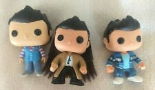 Funko pop Supernatural Castiel Lot,  #95, #304 Sdcc, wings and trench coat HTF