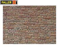 """Faller H0 170604 Mauerplatte """"Sandstein"""" grün-gelb-braun (1m² - 57,28€) - NEU"""