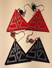 Orecchini  Vasco earrings plexiglass riproduzione artigianale