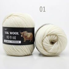 Sale 100g Natural Crochet woven yak wool cashmere Hand Knitting Yarn 33 colors