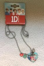 """1D One Direction Heart 32"""" Necklace Chain Band Picture Harry 100% Official NEW"""