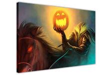 Calabaza Jinete Enmarcado tela pared arte Fotos Halloween Impresiones Casa Habitación Deco