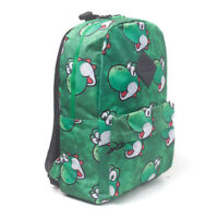 NINTENDO Super Mario Bros. Yoshi Face Sublimation Print Backpack, Green
