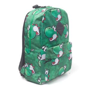 NINTENDO Super Mario Bros. Yoshi Face Sublimation Print Backpack, Green
