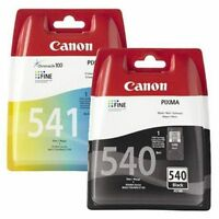 Refilled Ink Canon PG-540 Black + CL-541 Colour Cartridges MX375 MX435 MX515