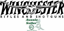 Winchester L/H  Vinyl cut Decal 260 x 80  mm  *NO BACKGROUND*  BUY 2 & Get 3
