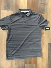 Prince Pro Short Sleeve Mens Polo Tennis Shirt M Gray