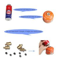 Hiking Camping Propane Refill Adapter Lp Gas Flat Cylinder Tank Coupler Adapter