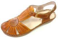 Pikolinos Damen Schuhe Slipper Sandale Sandalette 655-0575 brandy braun Leder