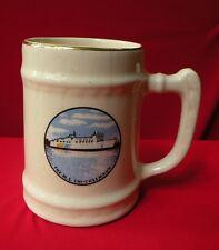 Vtg MS CHI-CHEEMAUN Ferry Ship Coffee Mug 22K Gold Canada Lake HURON Stein