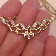 LOVELY REAL DIAMOND AND GOLD PLATED NECKLACE
