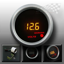 "Volt gauge LED 2"" 52mm for interior dash mount custom"