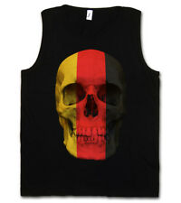 CLASSIC GERMANY GERMAN SKULL FLAG TANK TOP Schädel Deutschland Fahne BRD Flagge