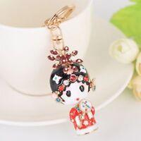 Rhinestone Chinese Style Women Key Chain Key Ring Handbag Pendant Key Holder