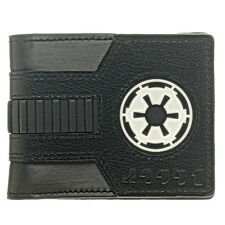 Star Wars Wallet Galactic Empire Emblem Black Bi-Fold Officially Licensed - NEW