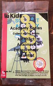 NIP Chick-Fil-A Kids Scientist Academy Book Booklet Usborne Stickers Careers