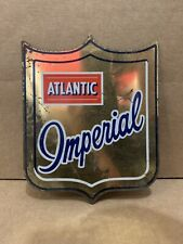 Vintage Atlantic Imperial Sign Tin Rare Gas Oil Pump Plate Shield