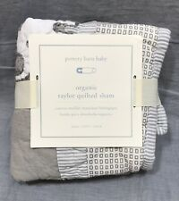 "1 Pottery Barn Kids Taylor Quilted 12x16� Sham ""Keegan� Monogram"