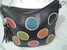 Ladies hand or shoulder bag with removable shoulder strap tassel detail