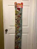 Mickey Mouse Disney Vintage Growth Scroll Chart Ruler Complete
