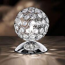 Wofi Tischleuchte Holly 1-flg Chrom Kristall Glas Lampe inklusive Leuchtmittel