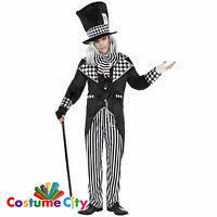 Adults Mens Totally Mad Hatter Alice in Wonderland Fancy Dress Party Costume