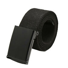 Fahsion Unisex Plain Webbing Mens Boys Waist Belt Casual Canvas Waistband New