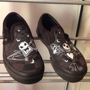 NEW Vans X Disney Nightmare Before Christmas Jack Slip-On Shoes Kids 10.5