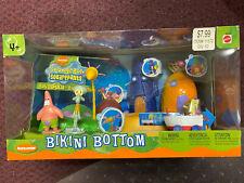 Spongebob Squarepants Bikini Bottom Playset Sealed 2003 Mattel Rare Hard To Find
