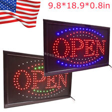 Bright Led Light Flash Motion Business Open Sign W/Chain Switch Bar Café Indoor