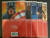 Marvel Comics New Avengers Civil War #21,22,23,24,25 NM