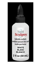 White Liquid Sculpey 2oz Bakeable Polymer Clay Medium for Molds & Image Transfer