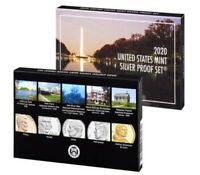 "2 - 2020 US MINT 10 COIN SILVER PROOF SETS (NO ""W"" NICKEL)"