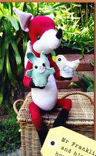 PATTERN - Mr Franklin Fox & his Puppets - cute softie/toy PATTERN